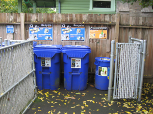 Make room for recycling in multi-family units.