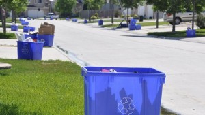 suburban curbside recycling