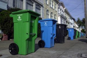 Bins lined up in San Francisco