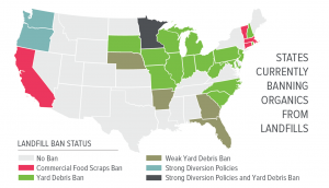 Map of state recycling and composting policies